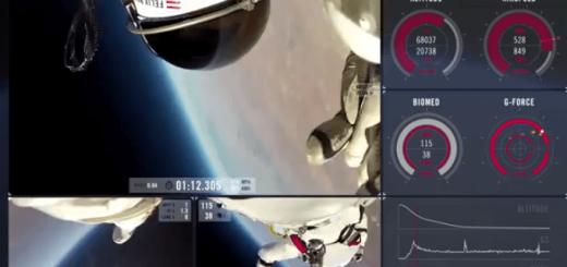 宇宙から地球へバンジージャンプをする映像がスゴい