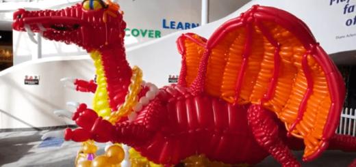 バルーンアートで作成されたドラゴンがとてつもなくカッコイイ