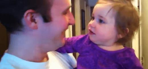 1歳女子「大好きなパパのひげがなくなった…」