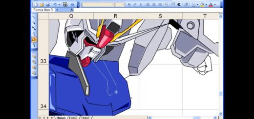 エクセルで超カッコいいガンダムを描いてみた!
