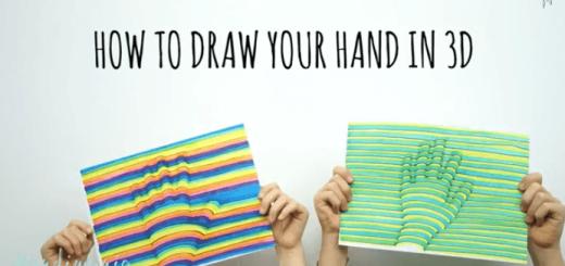 【衝撃】あなたの手を簡単に3Dアートで描く方法