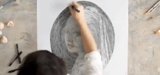どうやれば描けるの?ぐるぐると丸を書くだけで完成する絵画がスゴすぎ!