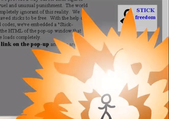 突如PC内に現れた棒人間とウェブサービスの戦いが手に汗にぎるスリル!