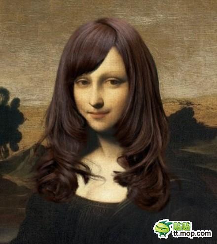 名画『モナリザ』を女子大生風の髪型にするとメッチャ可愛い