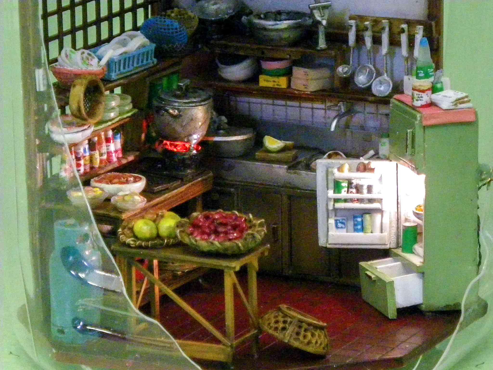 ▼生活感あふれるキッチン。ご飯のいい匂いがしてきそう!