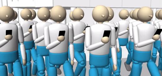 もしもスクランブル交差点を渡る人が全員歩きスマホをしていたら?