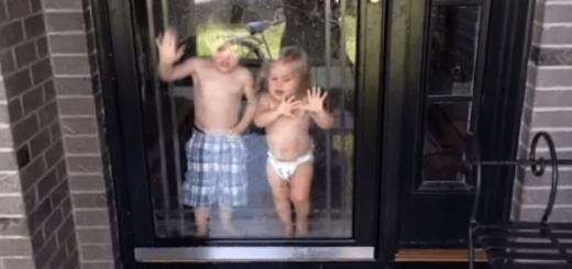 人間の本能?ガラスの向こうにある水を避ける赤ちゃん