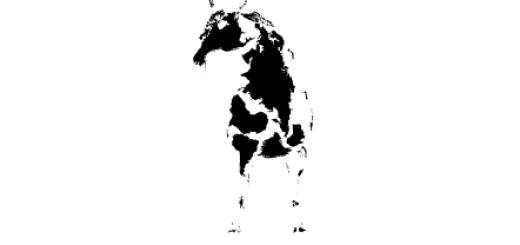 """世界地図だけで作成されたスタイリッシュすぎる""""十二支"""""""
