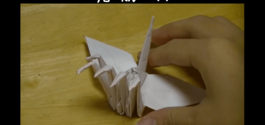 【衝撃のビジュアル】5つ首のツルを折る方法