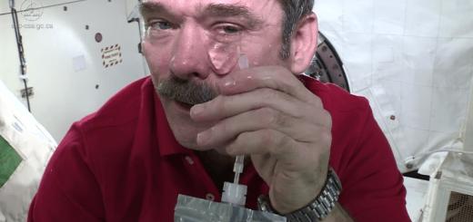 無重力スゲー! 宇宙空間で涙を流すとどうなると思う?