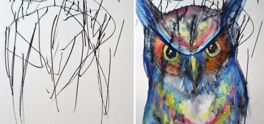 あなたならなにを描く? 2歳の娘と共同で創るスケッチブックアートに感動