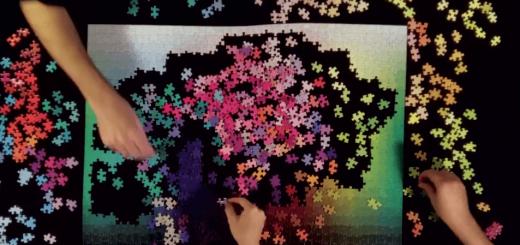 1000色を組み合わせて作成するパズルが息を飲むほど美しい