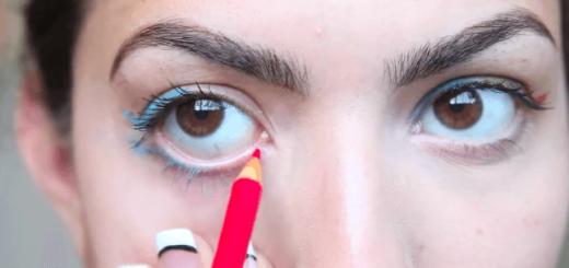 色鉛筆を使ってカラーアイライナーを自作する方法